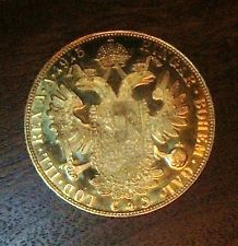 AUSTRIA 4 DUCAT 1915 13.96 gr. 0.4430 oz. 0.986 gold BEAUTIFUL!